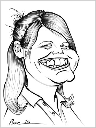 Black & White Caricature