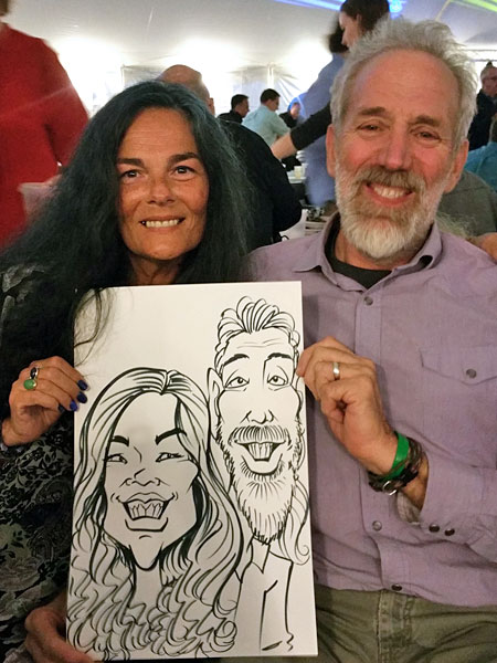 Caricature drawn by Brett