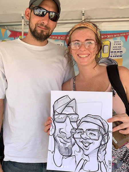 Caricature drawn by Casey