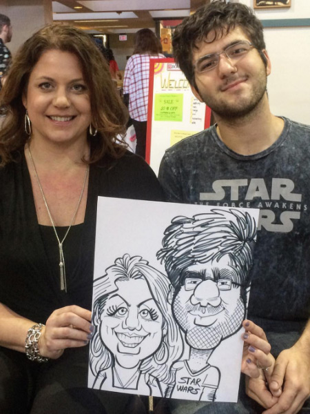 Caricature drawn by Greg