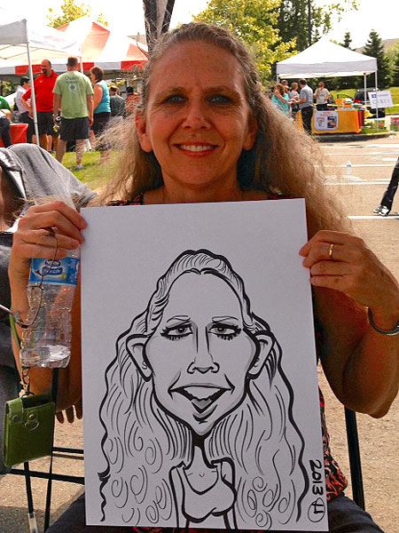 Caricature drawn by Heather