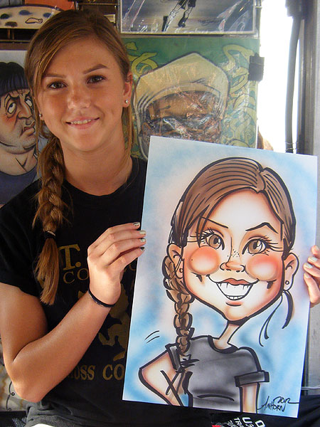 Caricature drawn by Jason