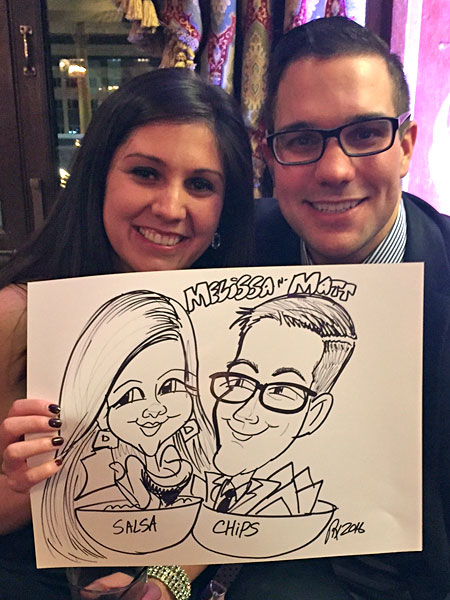 Caricature drawn by Rex