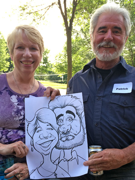 Caricature drawn by Robin