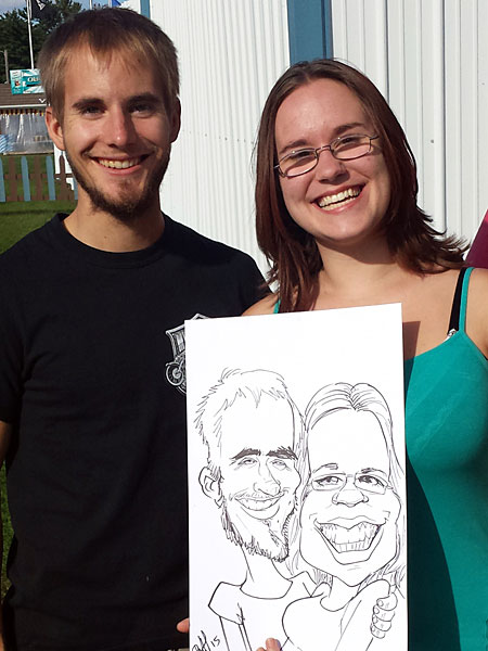 Caricature drawn by Theo
