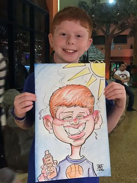 Caricature drawn by Tony