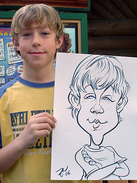 Caricature drawn by Zack
